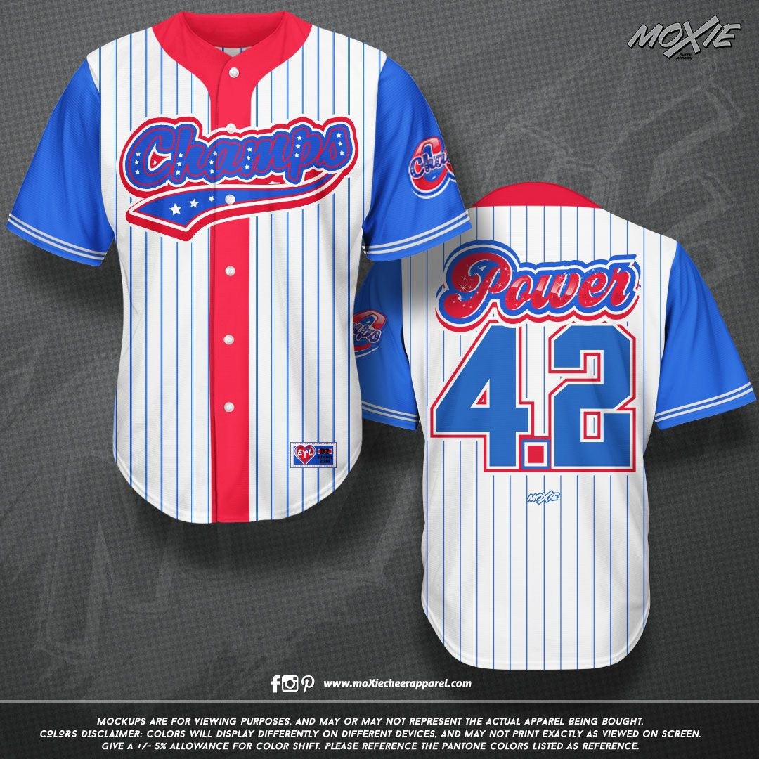bab4658bc Custom Baseball/Softball Cheer Jerseys for CCChamps by moXie cheer apparel!  We offer the