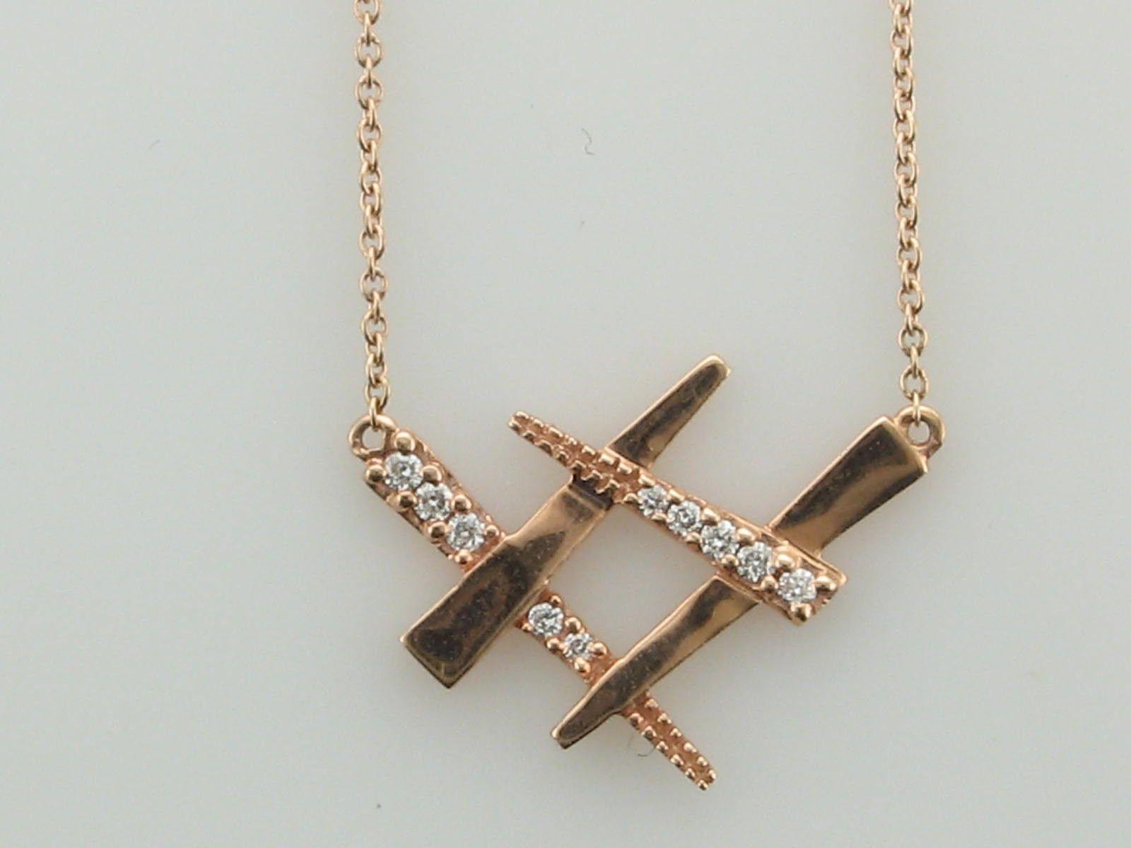 Diamond Criss Cross Necklace from UniQ Jewelry