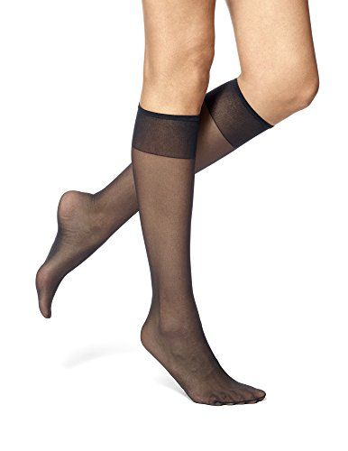 Women's Sheers - No Nonsense Womens Sheer Toe Knee Highs 8 Pair Pack *  Check out this great product. (This is an Amazon affiliate lin… |  Pantyhose, Knee high, Women