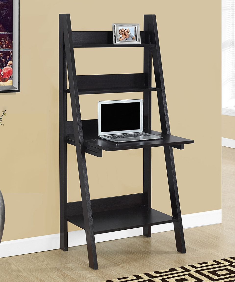 Loving this monarch specialties cappuccino ladder leaning desk on