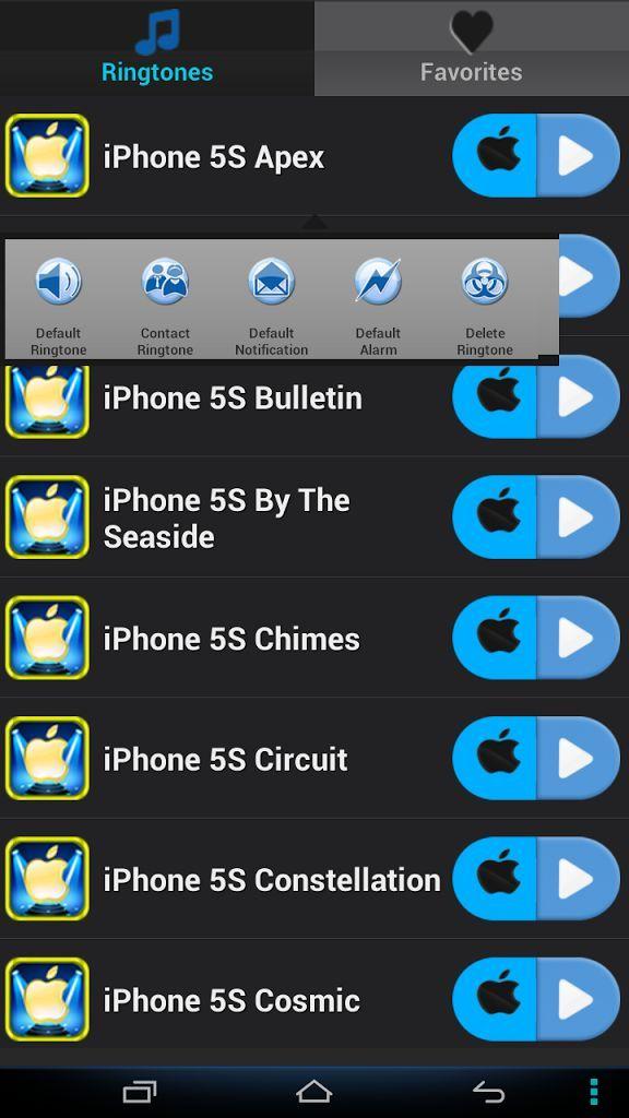 Скачать готовые рингтоны для iphone 5s