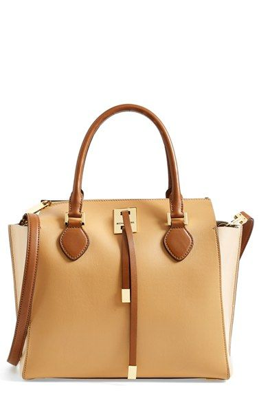 b157aa21108d Michael Kors 'Miranda' Colorblock Leather Satchel available at #Nordstrom