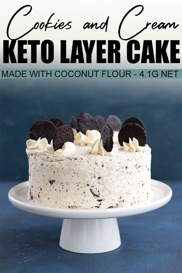 Keto Cookies & Cream Cake