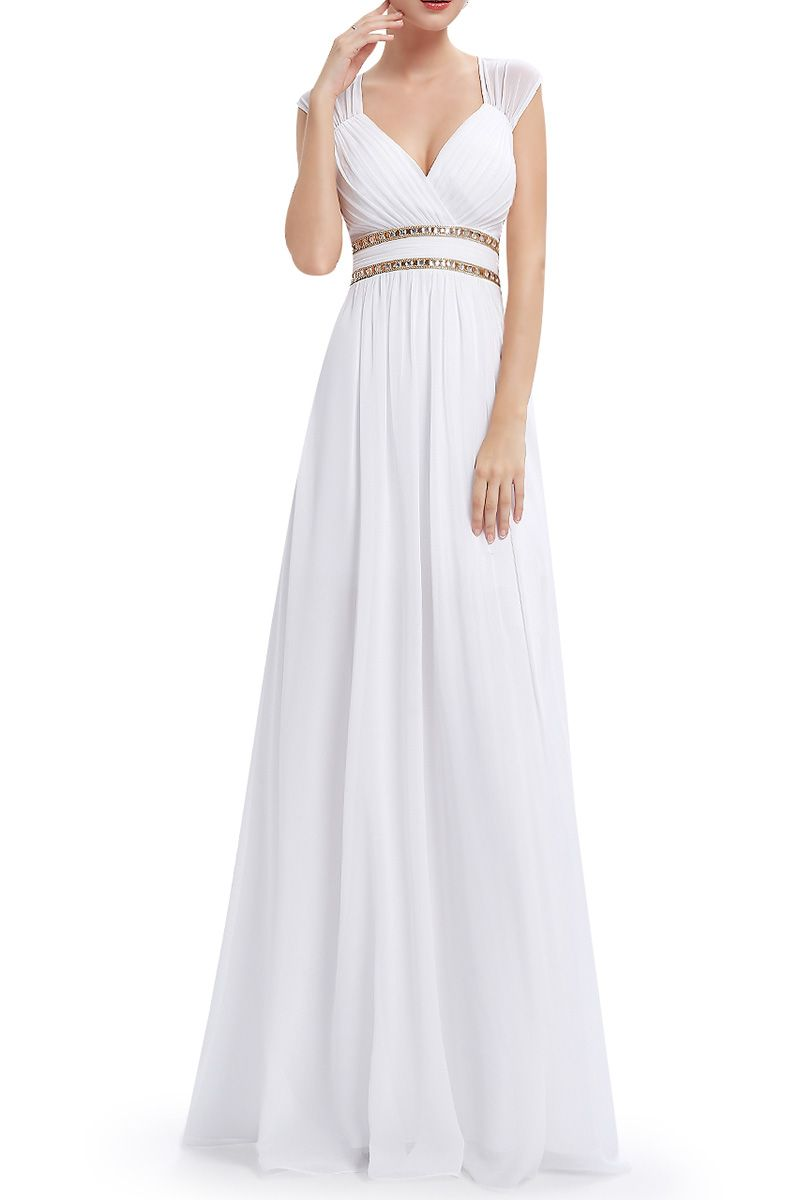 Egyptian wedding dresses  Chiffon Backless Evening Dress  Weddings Wedding dress and Gowns