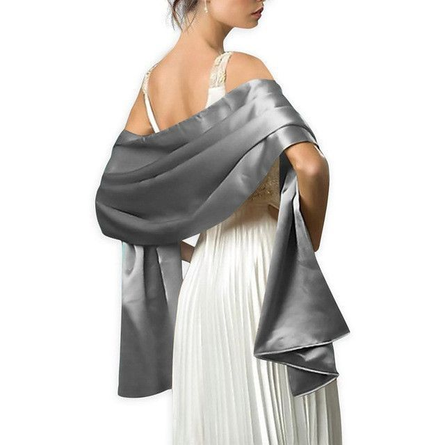 04780866f9ba5 Elegant women Satin wrap shawl Evening party wrap Bridal Wedding ...
