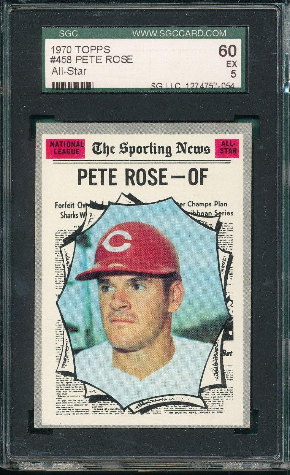 1970 topps baseball pete rose all star pete rose