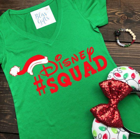 Disney Christmas Shirts Matching Family Vacation SQUAD Creative