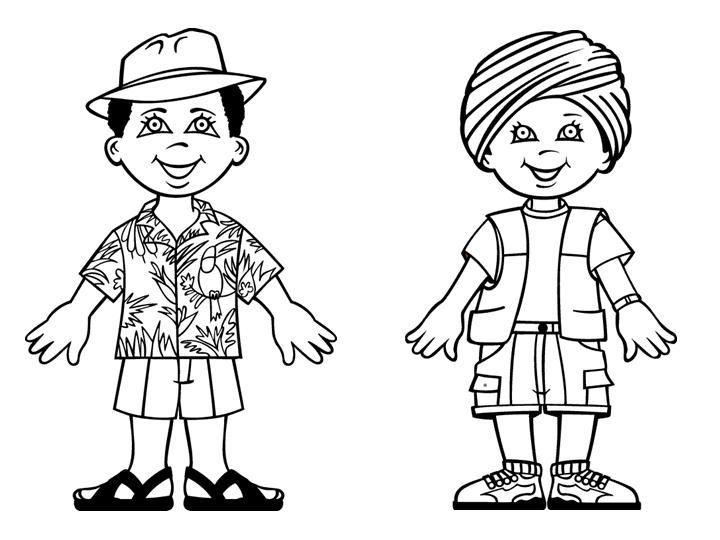 Grupos De Niños Para Colorear: Colorear Gente Del Mundoç - Buscar Con Google