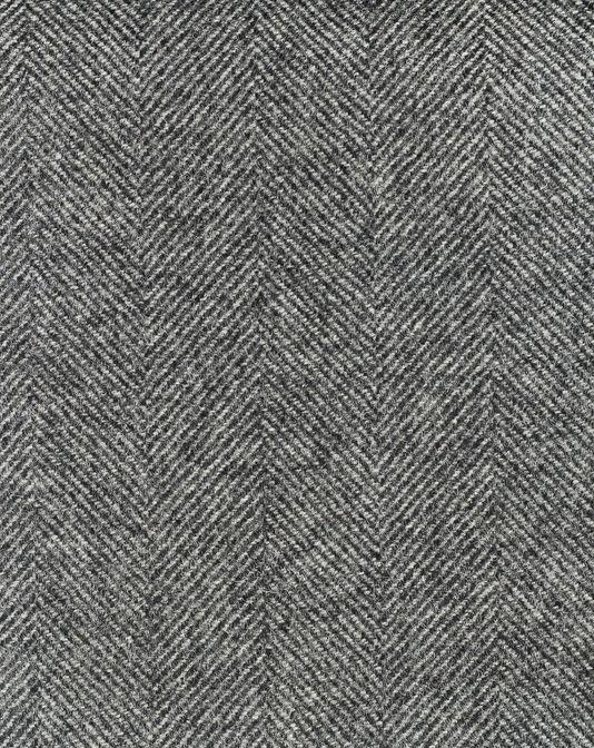 Stoneham Chevron Fabric 100% Wool chevron fabric in dark grey ...