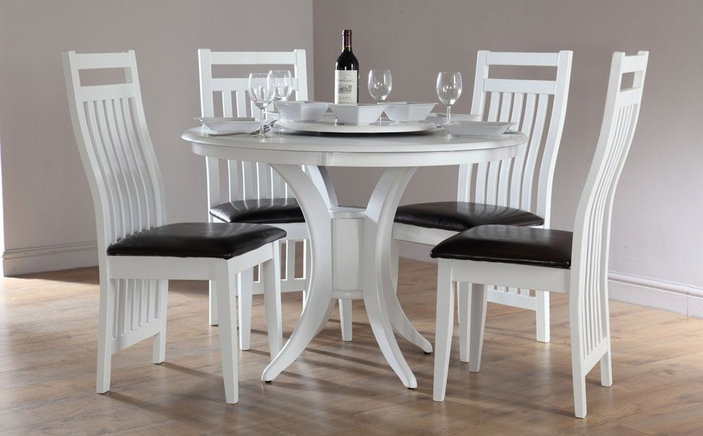 Charmant Magnificent Round Dining Table And Chair Sets White Round Dining Table And  Chairs Vanityset