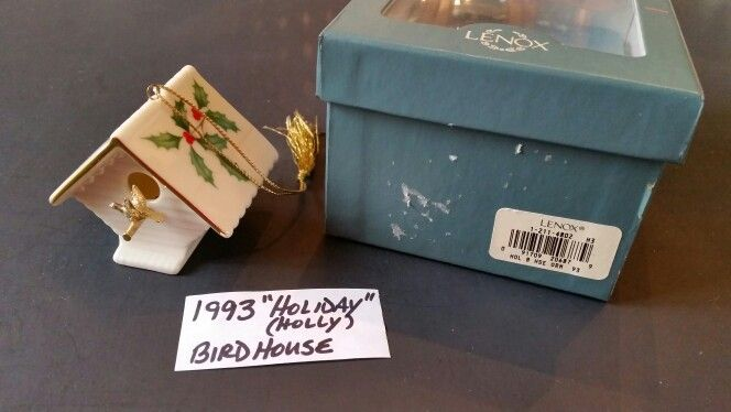 """1993 Annual """"Holiday"""" pattern Bird House"""