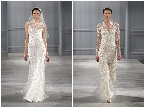 Monique Lhuillier Spring 2014 Bridal Collection French Wedding DressParisian