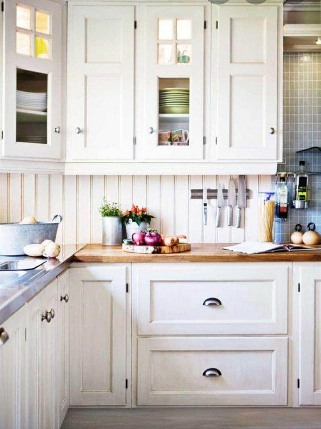 Bead Board Backsplash In 2020 Beadboard Kitchen Modern Kitchen Scandinavian Kitchen Cabinets