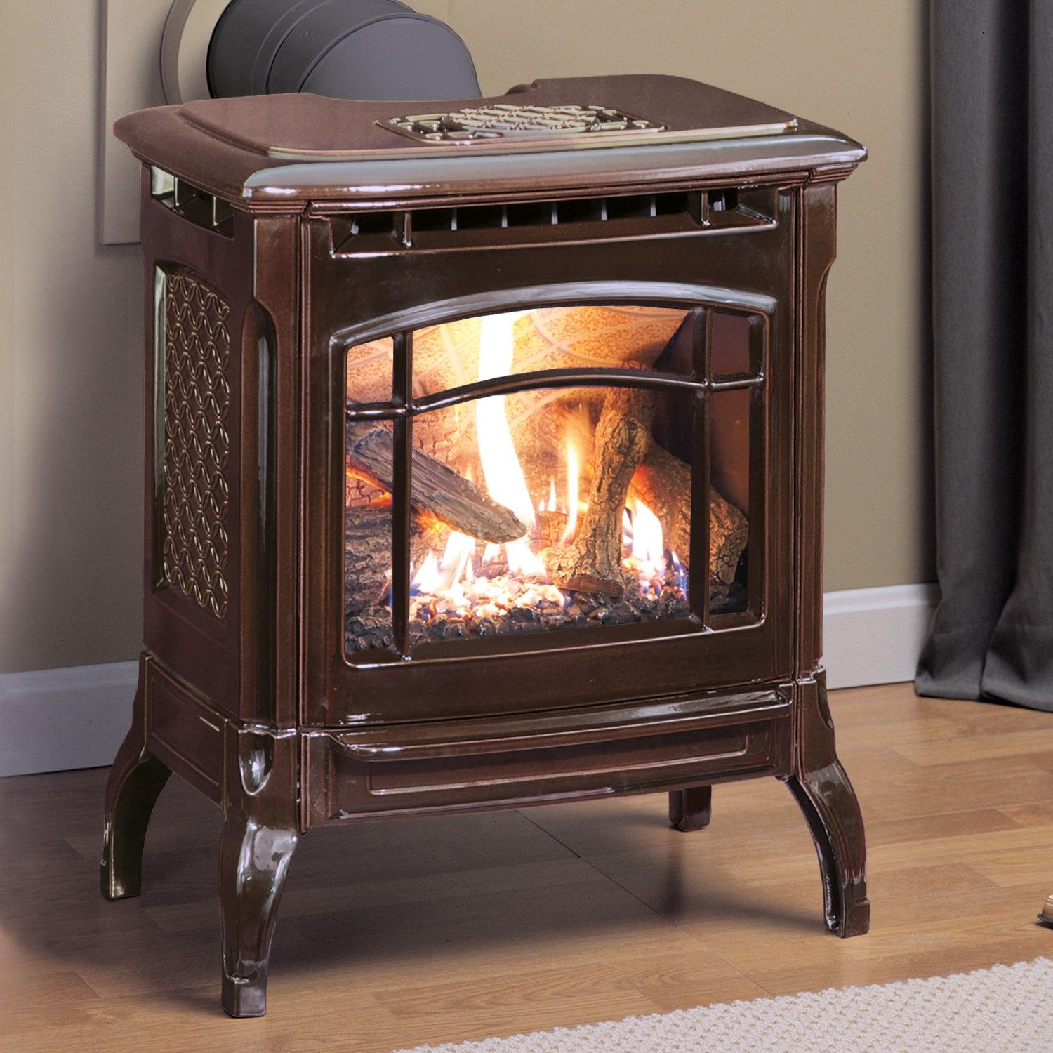 STOWE DX 8322 gas stove with brown enamel finish, by ...