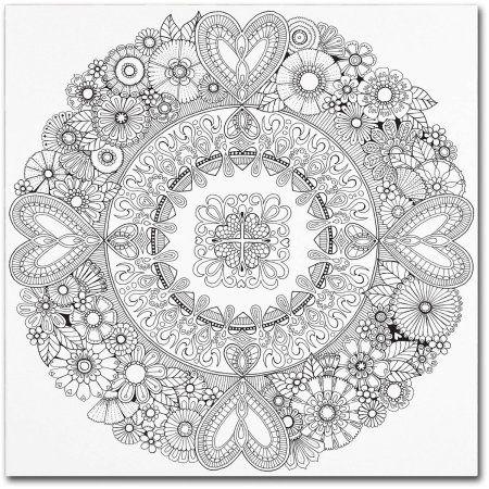 Trademark Fine Art Flowers For My Heart Canvas Art By
