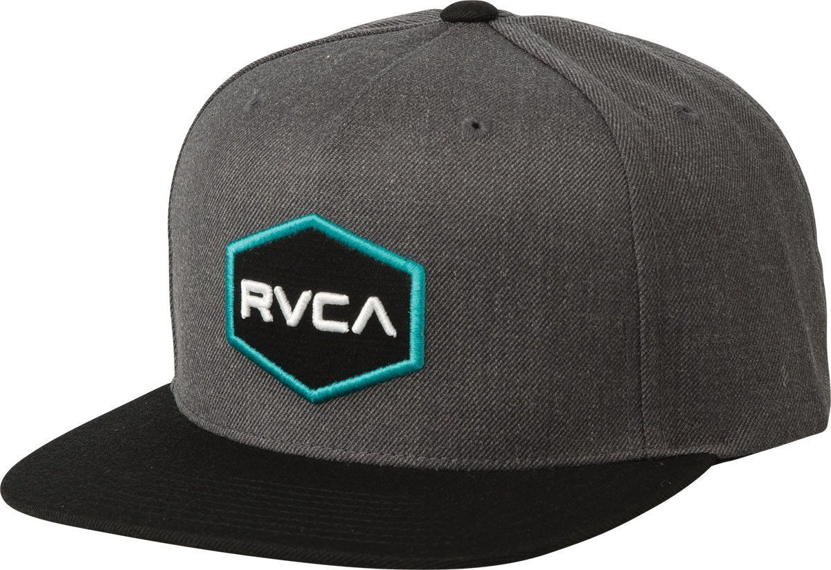 b213fa25798 RVCA Commonwealth Snapback Charcoal Grey Hat