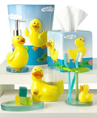 Elegant Paradigm Duck Accessories Collection   Rubber Ducky Bathroom Decor