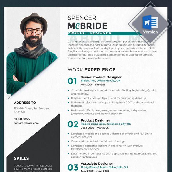 Spencer Mcbride Product Designer Resume Template 69714 In 2020 Resume Design Resume Template Resume