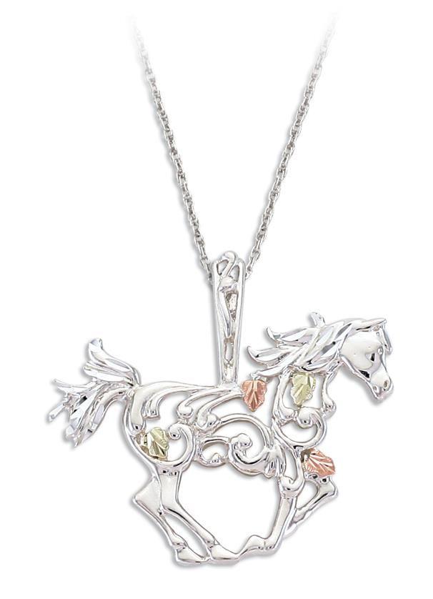Black hills gold horse pendant in sterling silver horse breeds black hills gold horse pendant in sterling silver aloadofball Gallery