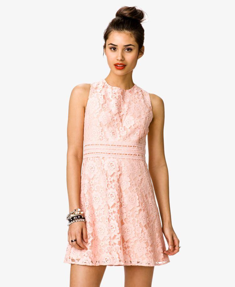 Crochet Ribbon Lace Dress Forever21 2035374068 Dresses Peach Lace Dress Lace Dress Forever 21