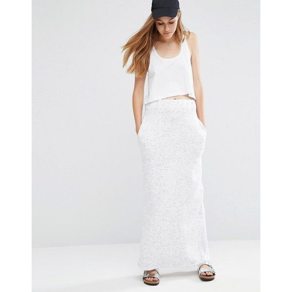 ASOS Column Maxi Skirt in Sweat ($43) ❤ liked on Polyvore ...