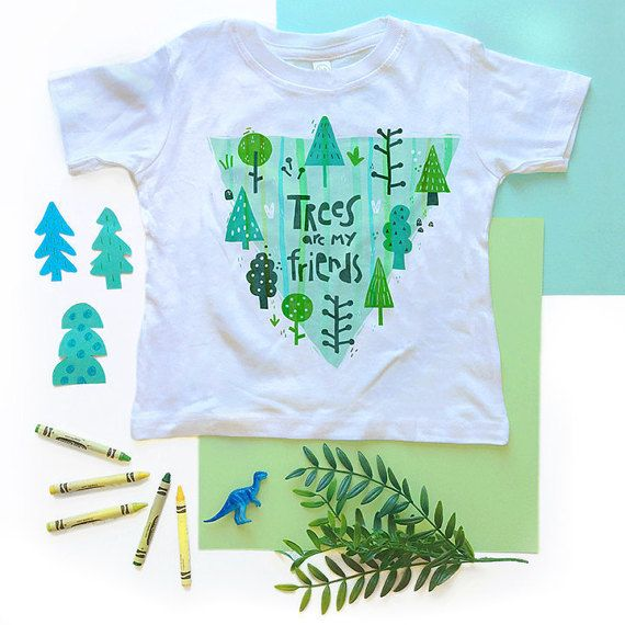 Trees Are My Friends Toddler Tee Earth Day Shirt baby by TATYKids