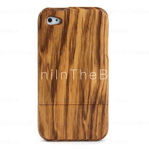 Zabra Pattern Wooden Case for iPhone 4 / 4S
