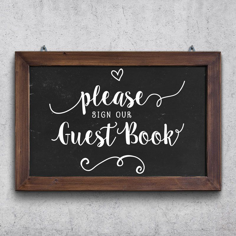 Please Sign Our Guest Book Wedding Sign - Dana Decals - 1