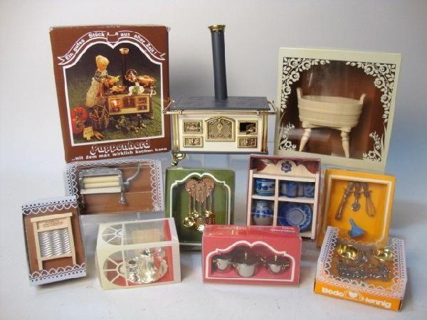 Bodo Hennig bodo hennig german stove accessories miniatures blue dollhouse 1
