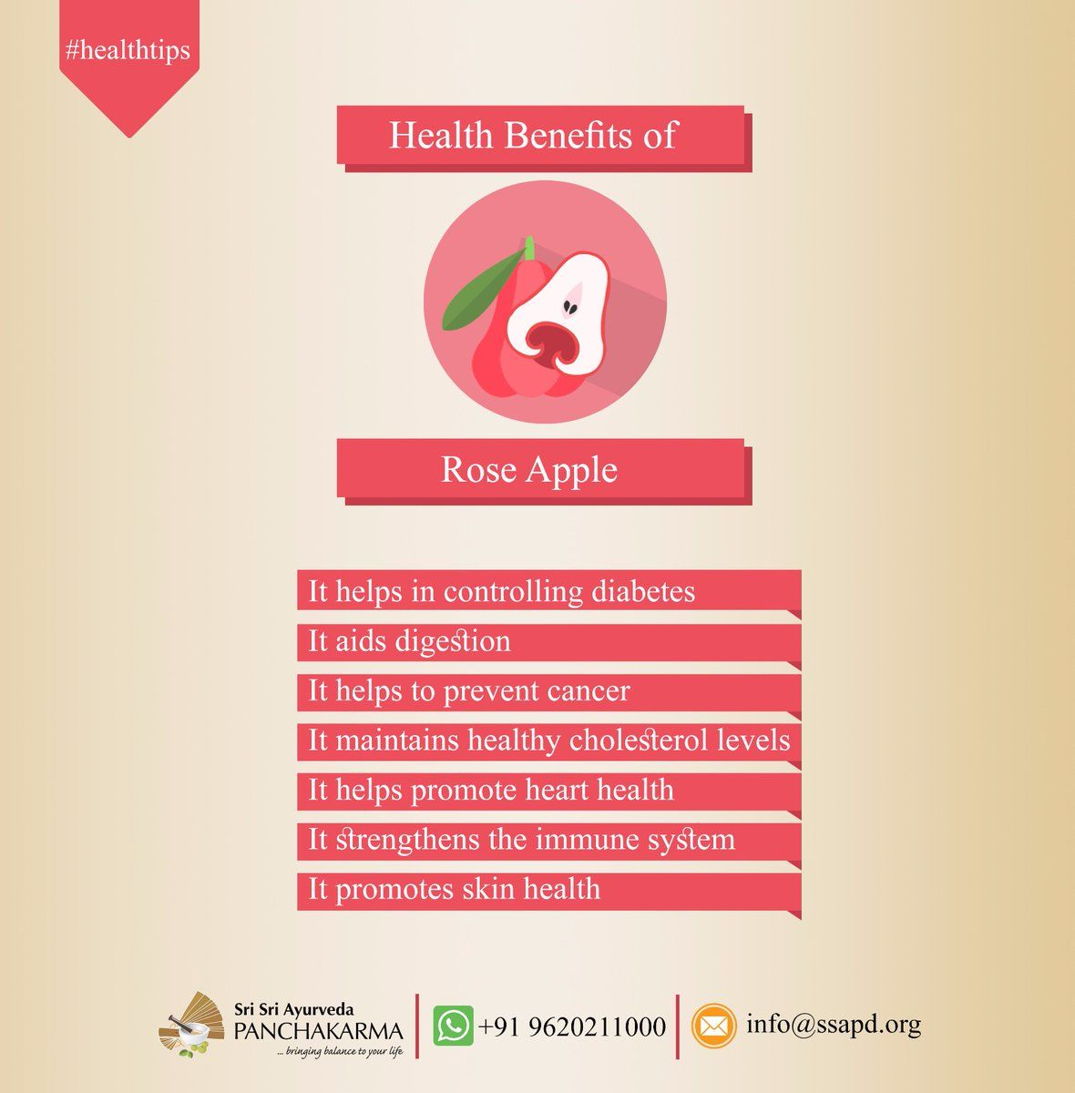 Rose Appple benefits ayurveda healthy artofliving