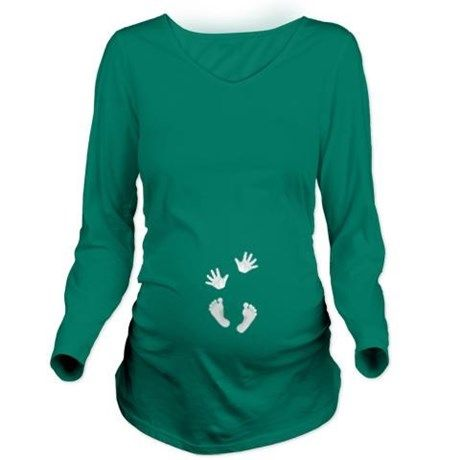 2013 Baby Hands and Feet 2 Long Sleeve Maternity T