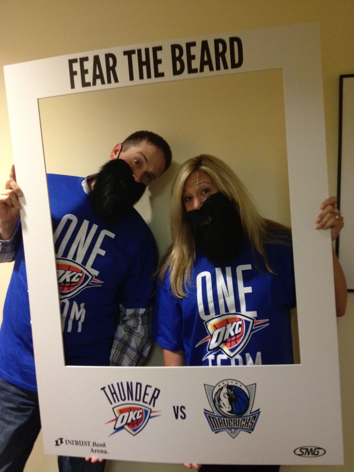 Brian & Cathy from Kissin' 102.1 Fear The Beard.