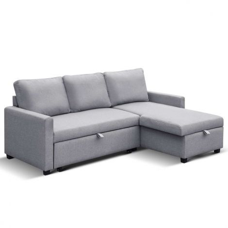 3-Seater Modular Sofa Bed Couch W/ Storage Corner Suite Chaise ...