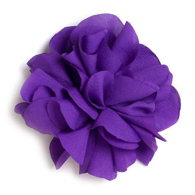 Flor de tela con pinza Marimora, en color Púrpura.