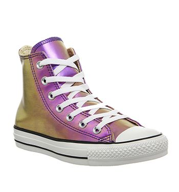 Converse Sneakers All Star Hi Purple Iridescent