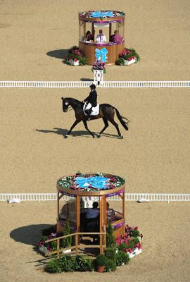 Patrico Guglialmelli Lynch of Argentina rides Nirvana Pure Indulgence during the dressage individual freestyle test