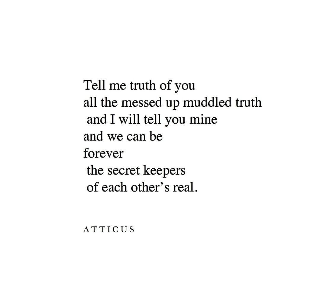 """ATTICUS on Instagram """"'Secret Keepers' atticuspoetry atticus ..."""