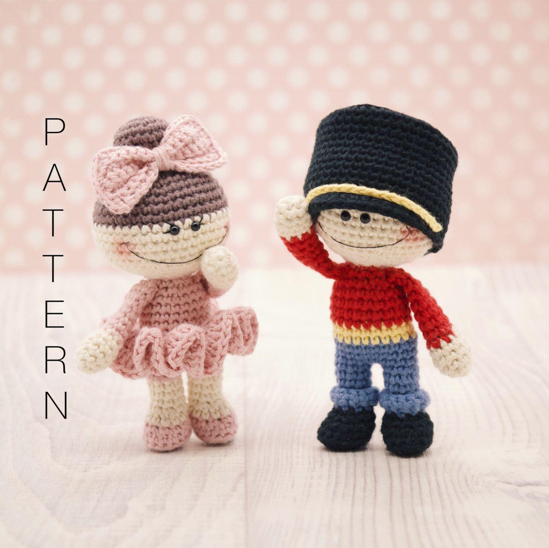 Amigurumi crochet doll - The Little Doodahs Clara and The Nutcracker Prince dolls PATTERN ONLY (English) by BubblesAndBongo on Etsy https://www.etsy.com/listing/492751319/amigurumi-crochet-doll-the-little