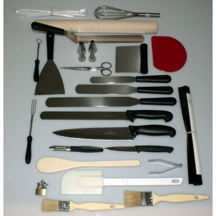 Mallette ustensiles professionnelles p tisserie 25 pi ces - Materiel de cuisine pour professionnel ...