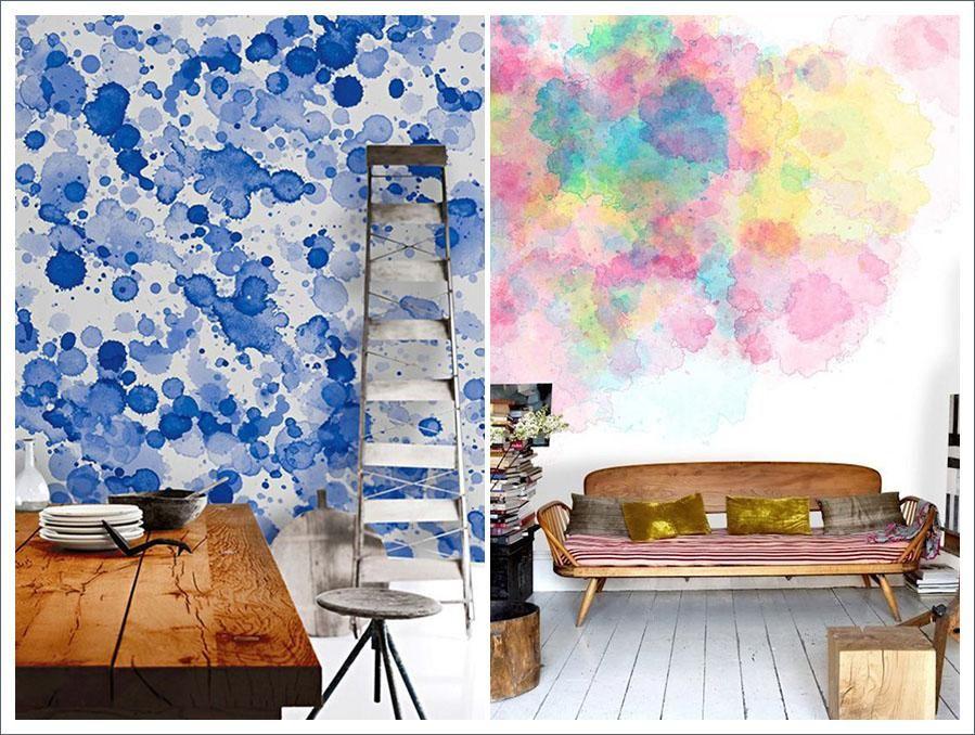 Usar las paredes como un lienzo en blanco perfecto para - Pintar paredes originales ...