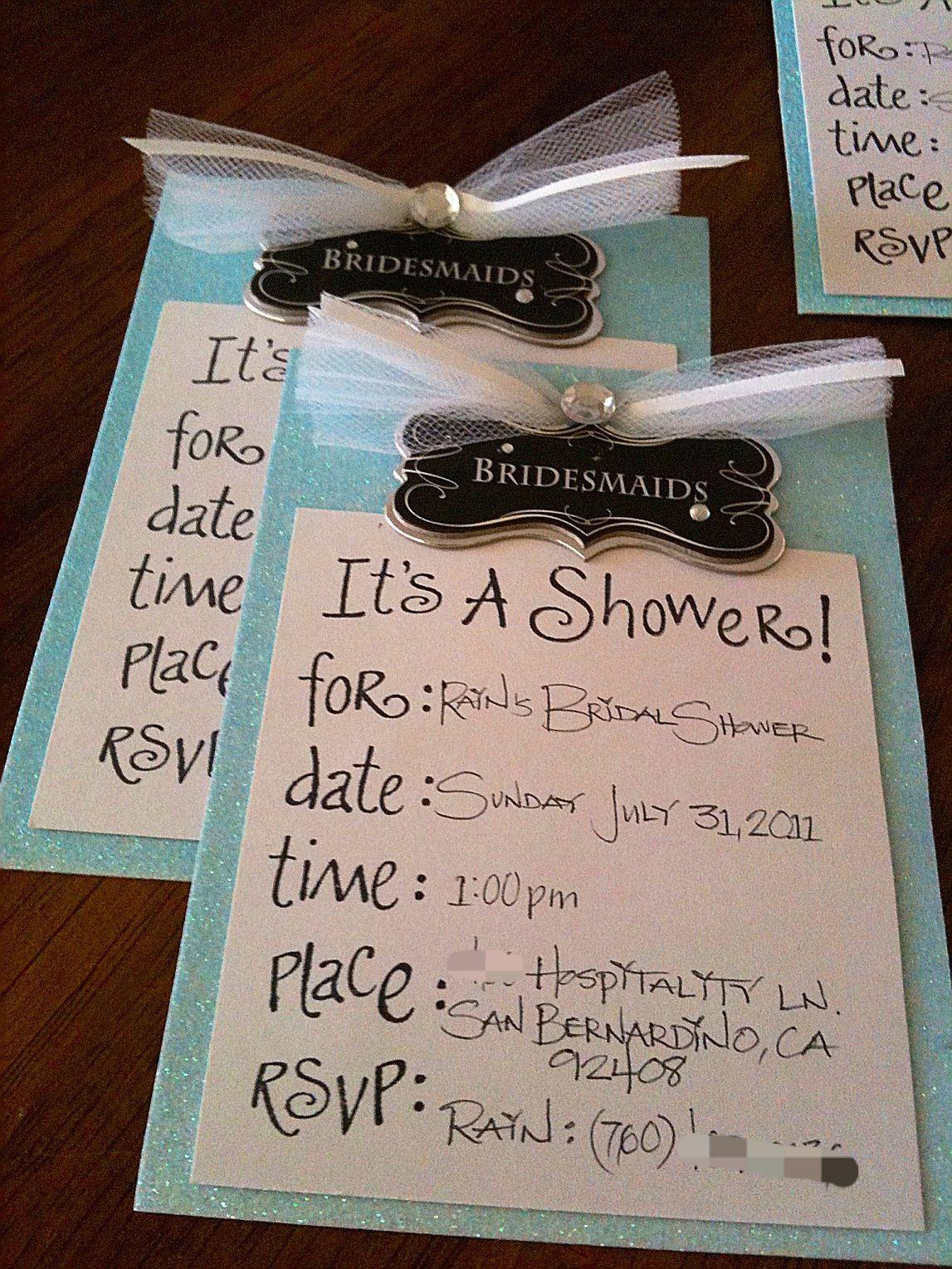9669363221d1 Handmade bridal shower invitations