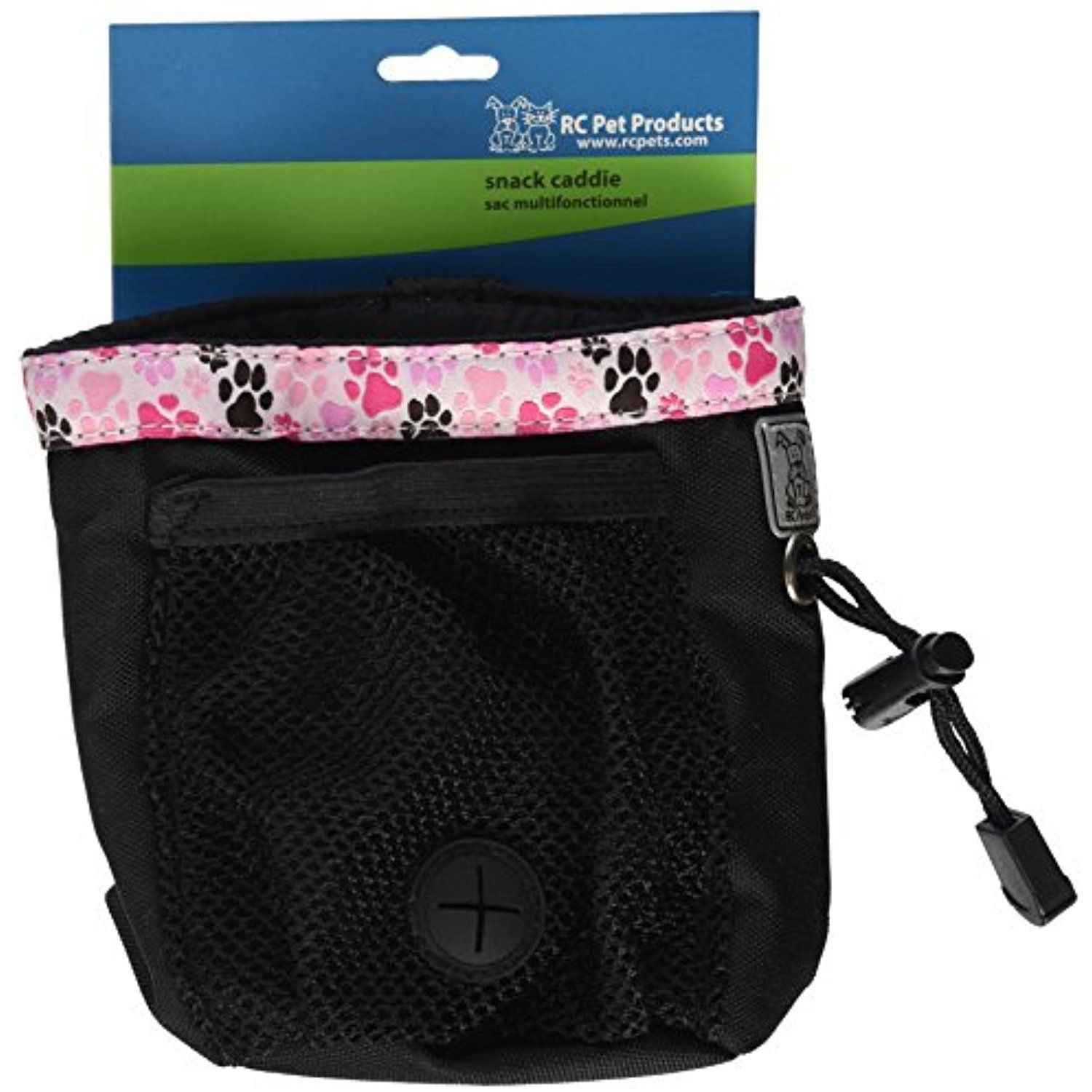 RC Pet Products Dog Snack Caddie, Black with Pitter Patter
