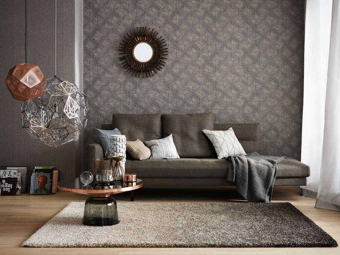 raumbild; schöner wohnen tapete 943671 #industrial #style #chic ... - Industrial Chic Wohnzimmer