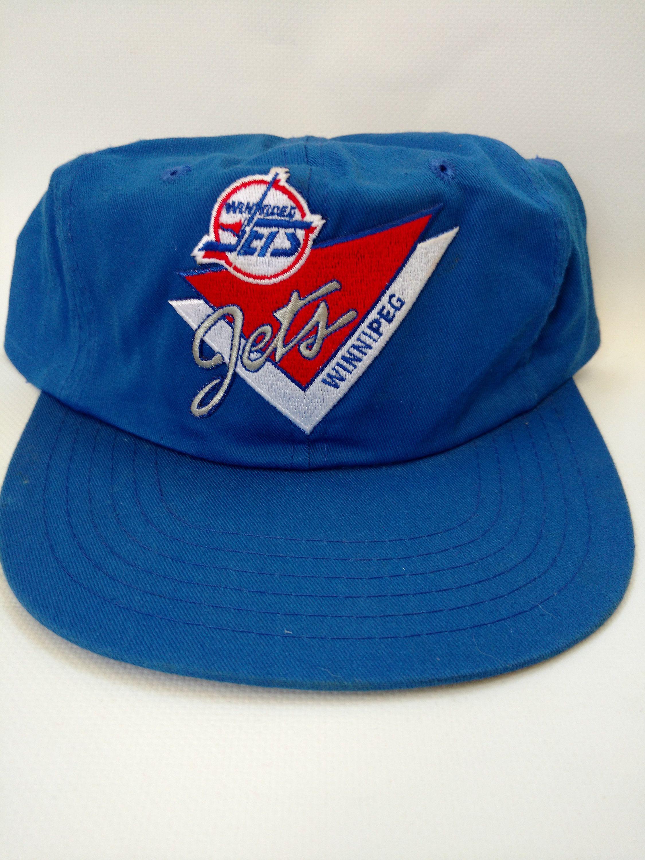 473bf5cc975 Winnipeg Jets Hat Vintage Hockey Retro 1980s or 1990s Blue Snapback Cap by  RockabillyPinUps on Etsy