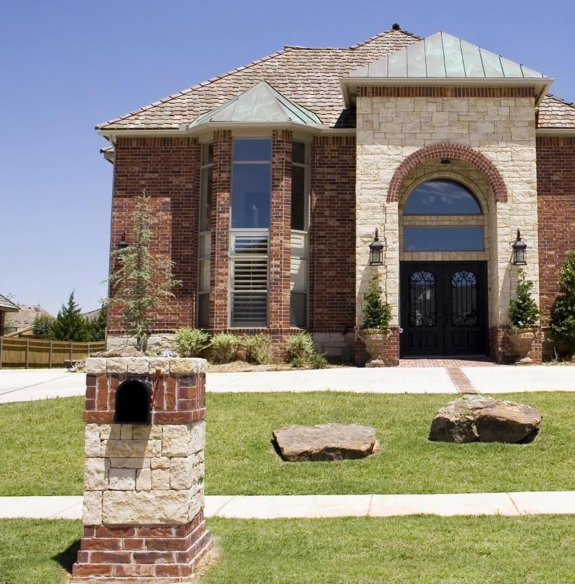 Stone Mailbox Designs Brick And Stone Architectural Mailbox
