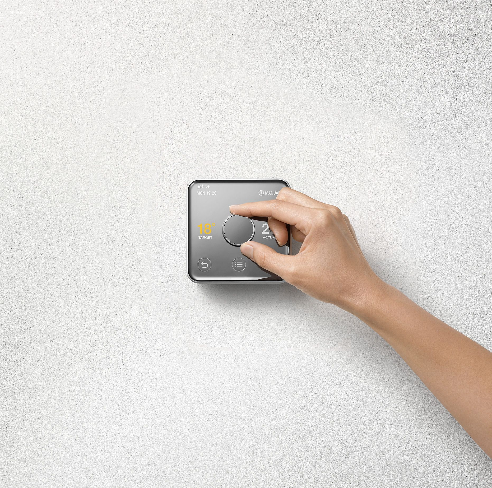 Yves Behar Creates A Smart Thermostat That Resembles A Simple Piece Of Steel Smart Thermostats Thermostat Objects Design
