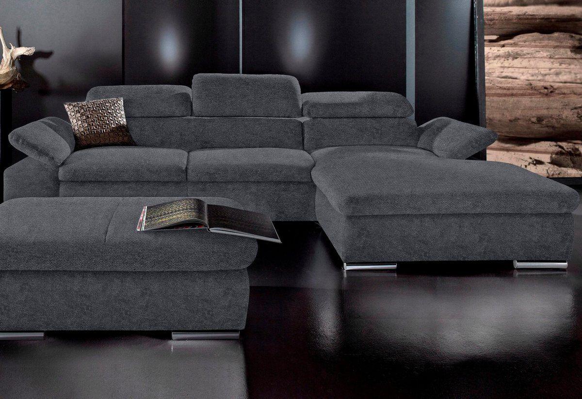 Ecksofa Wahlweise Mit Bettfunktion Couch Sofa Home Decor