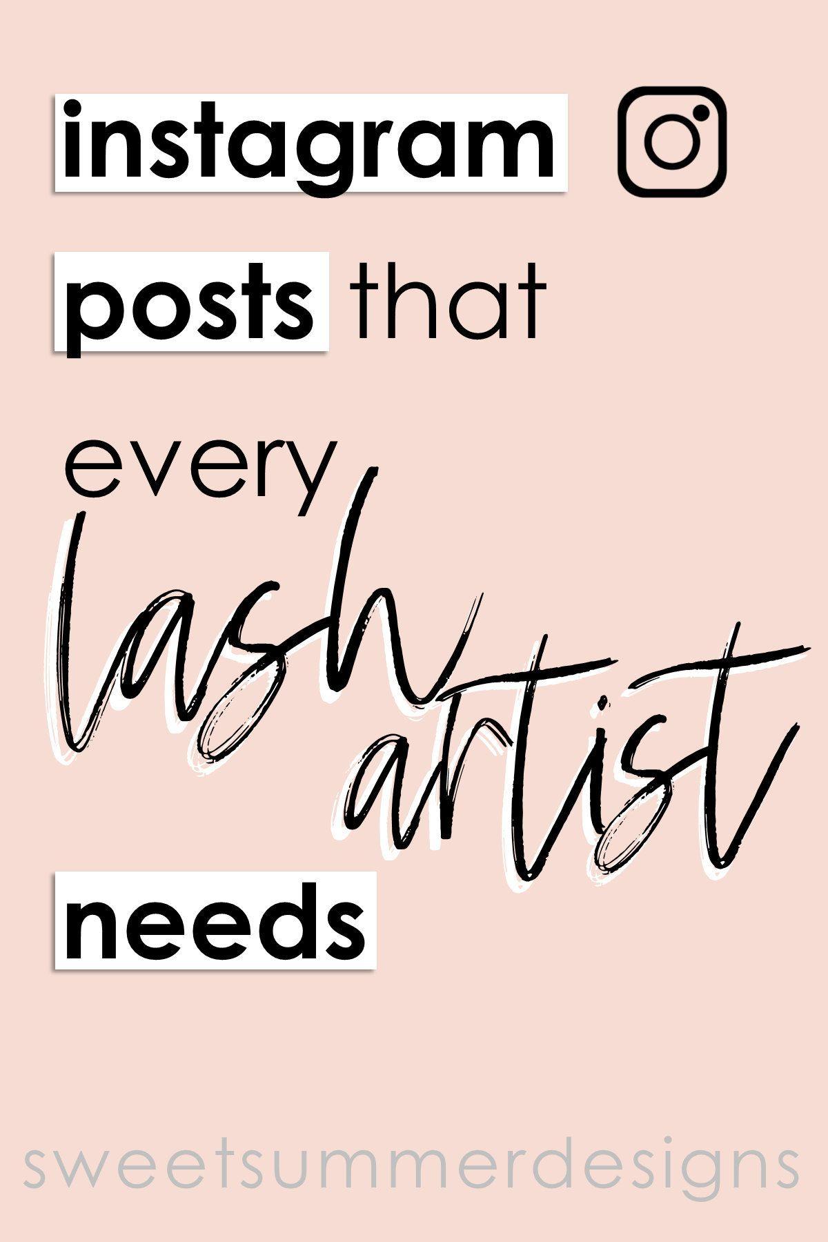 40 Lash Artist Black and Rose Gold Instagram Posts, Lash