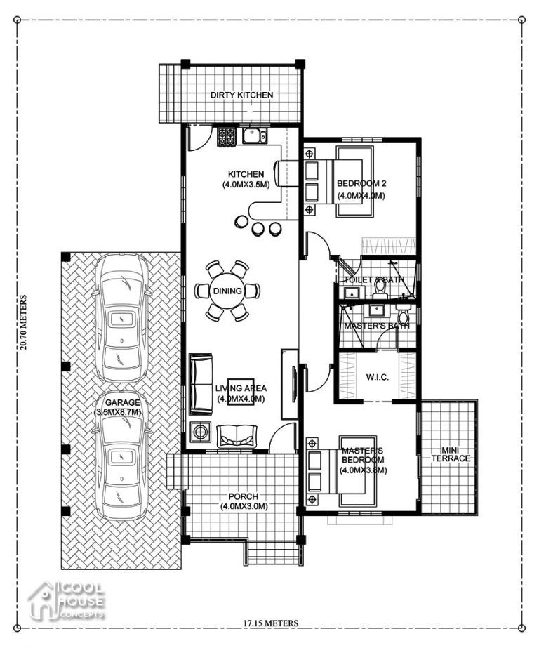 Elegant One Storey Elevated Home Plan Cool House Concepts Modern Bungalow House Design Bungalow House Design Modern Bungalow House