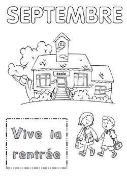 Septembre | Coloriage rentrée maternelle, Rentrée des ...